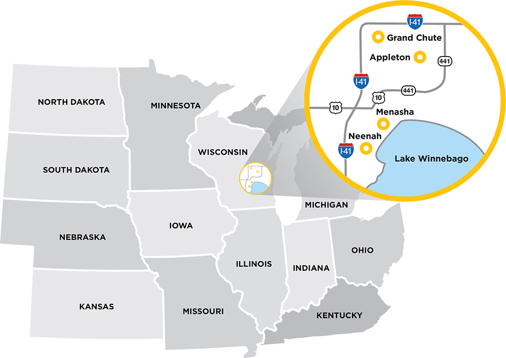 Fox Cities Visitor Map